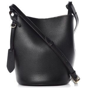 BURBERRY Lorne Haymarket Bucket Bag Black